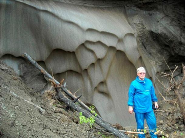 Dr Anatoli Brouchkov, head of the Geocryology Department, Moscow State University, on Mamontova Gora