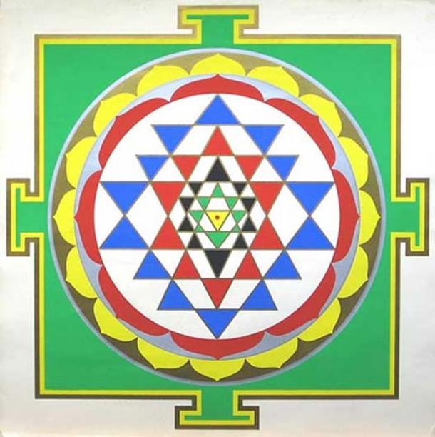 A mandala-yantra design.