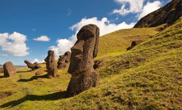 The maoi statues of Easter Island