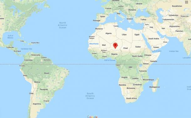 Location of Zinder, Niger (Google Maps)