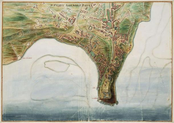 A map of Luanda.