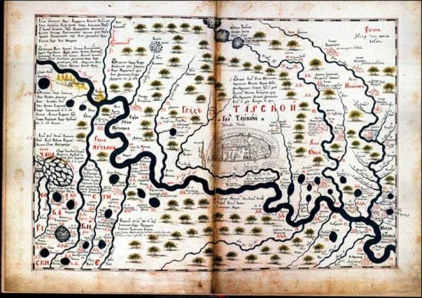 First map of Tara made by Semyon Remezov and published in 1700.