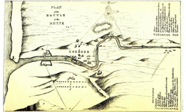 Map of the Battle of the Boyne. (Metilsteiner / Public Domain)
