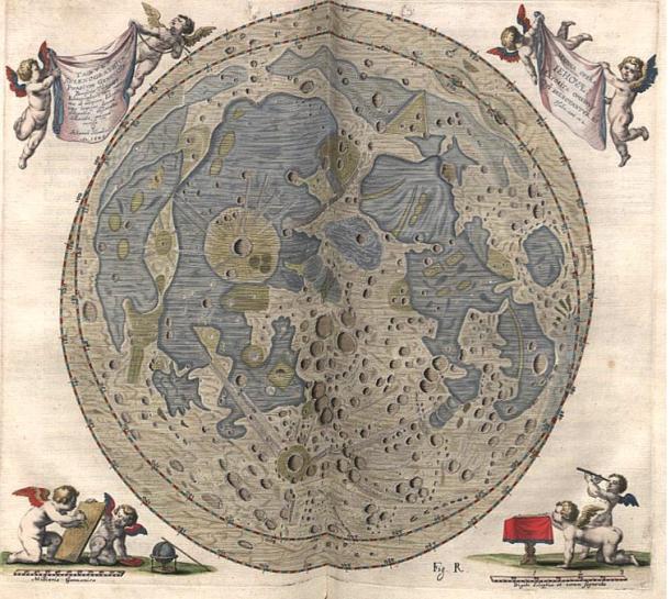 Hevelius' map of the Moon.