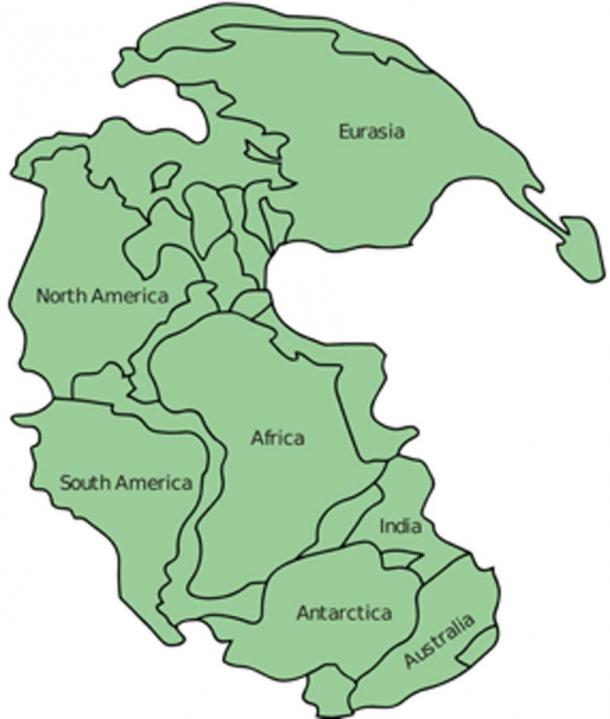 Greater Adria was part of the Pangea supercontinent that broke away from Africa 20 million years later. (Justass / CC BY-SA 3.0)