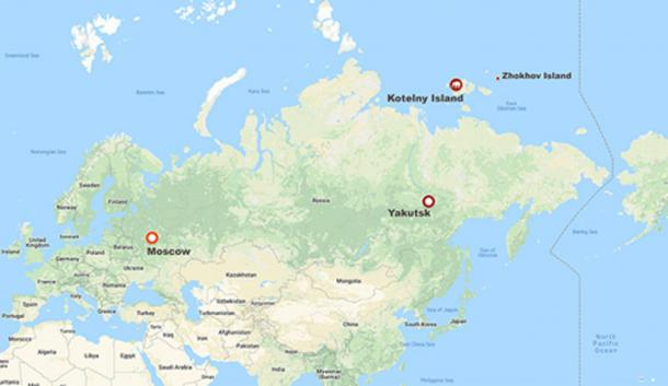 Palaeontologists made the exceptionally rare discovery on Kotelny Island part of the New Siberian archipelago. Images: The Siberian Times, Innokenty Pavlov