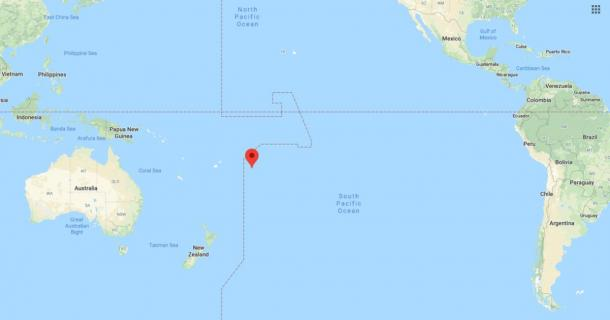 Location of Niue (Google Maps)
