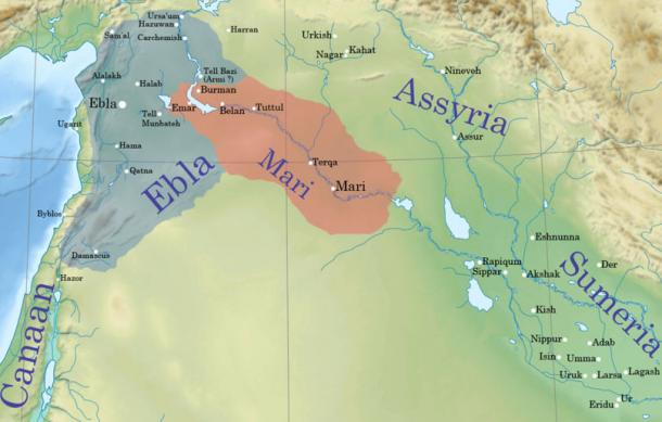 Location of Mari