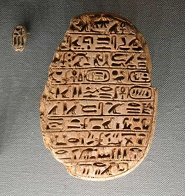 A marriage scarab of Amenhotep III