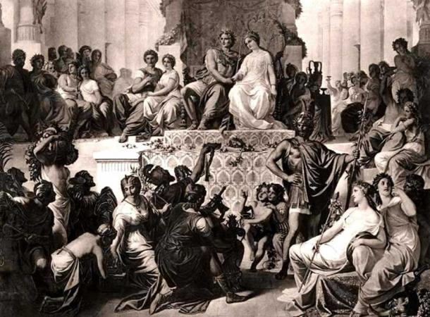 The marriages of Stateira II to Alexander and her sister, Drypteis, to Hephaestion at Susa in 324 BC.