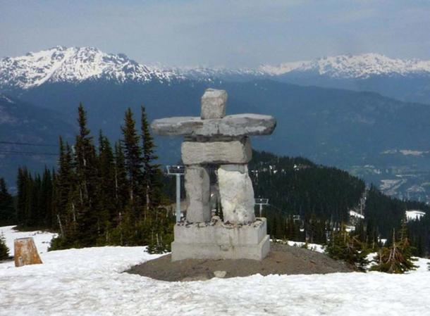 The mascot logo of the 2010 Winter Olympics, located on Whistler Mountain.
