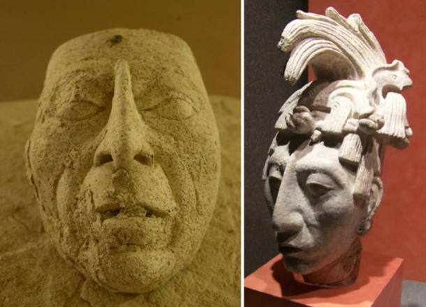 On examination the mask has been identified as likely a representation of Pakal the Great.