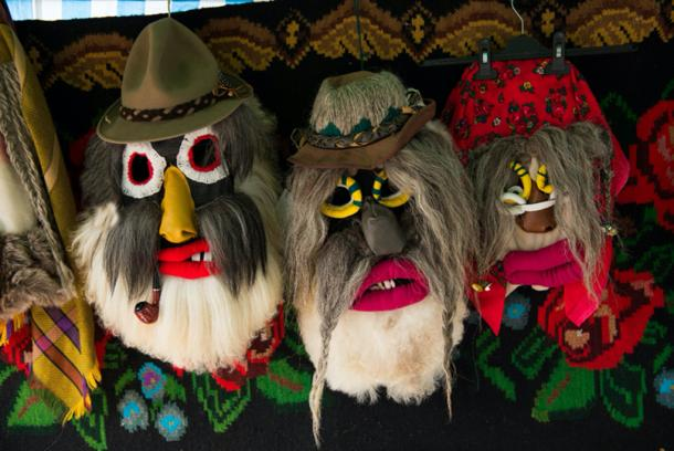 Christmas masks from Romania. Credit: salajean / Adobe Stock
