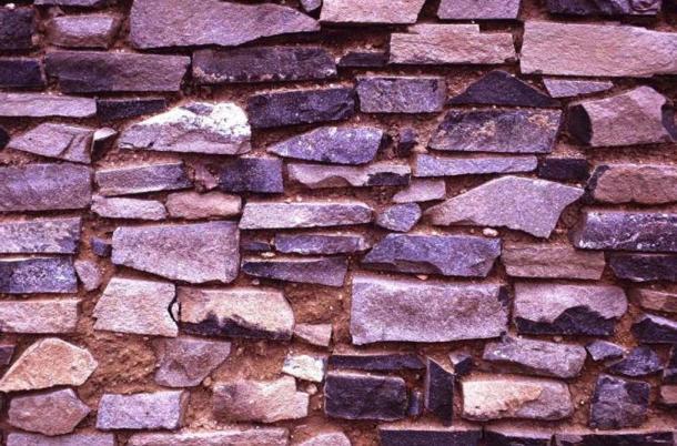Detail of a masonry wall from Arroyo Hondo.