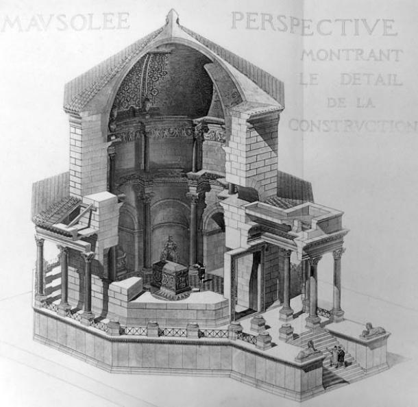 Illustration of the mausoleum at Diocletian's Palace