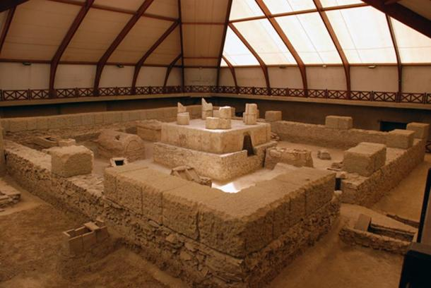 Ruins of a mausoleum at Viminacium