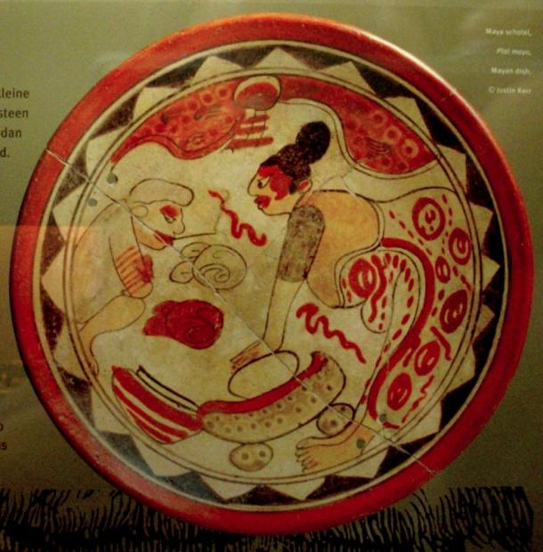Pre-ceramic people may have helped early or pre-Mayan people build a ceremonial center beginning around 950 BC. The great Maya civilizations went on to do advanced architecture and art, like this ceramic bowl.