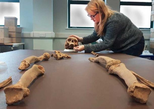 The medieval priest's bones.