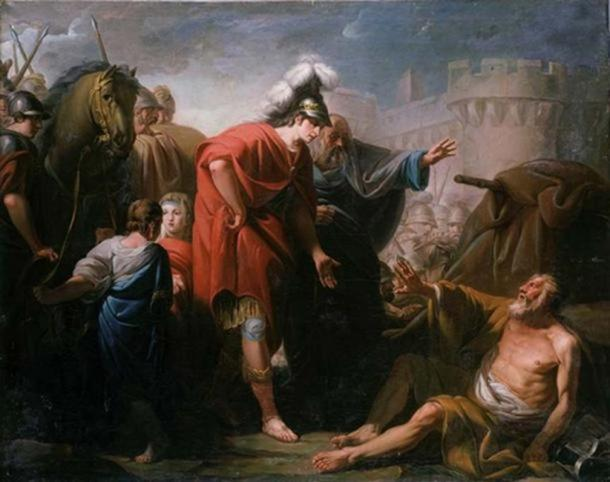The meeting between Alexander and Diogenes (Public Domain) Alexander the Great was rather short, angry, paranoid, and somewhat undisciplined.