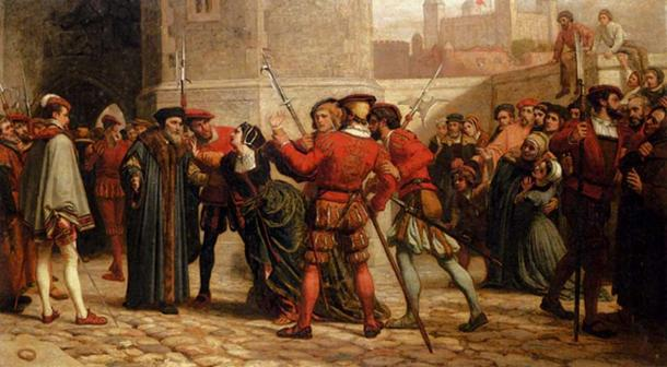 The meeting of Sir Thomas More with his daughter after his sentence of death, (by William Yeames)