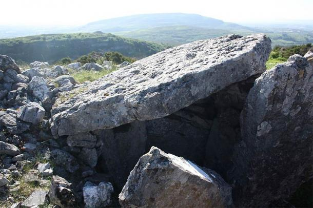 A megalithic passage tomb in Carrowkeel is one of several that has been damaged in recent weeks. (Shane Finan / CC BY-SA 4.0)