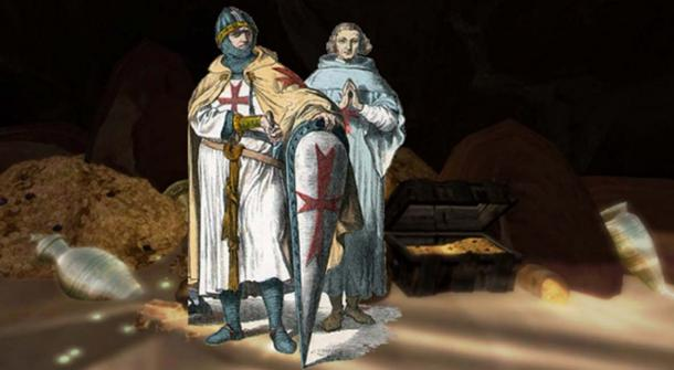 Composite image of members of the Knights Templar