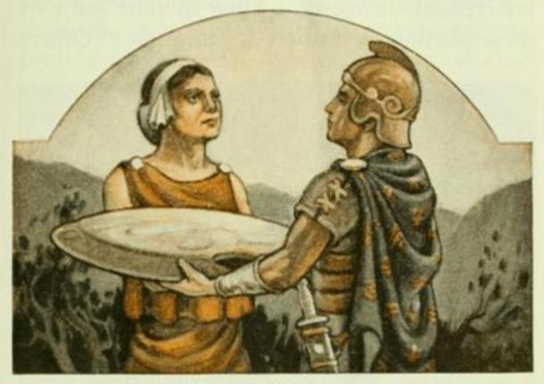 Men, women and children in Sparta were taught that their first duty was to their state. The Spartan woman thought that the greatest honor was for her sons or husband to die fighting for their state. (this image has been cropped) (Patrick Gray / CC BY 2.0)
