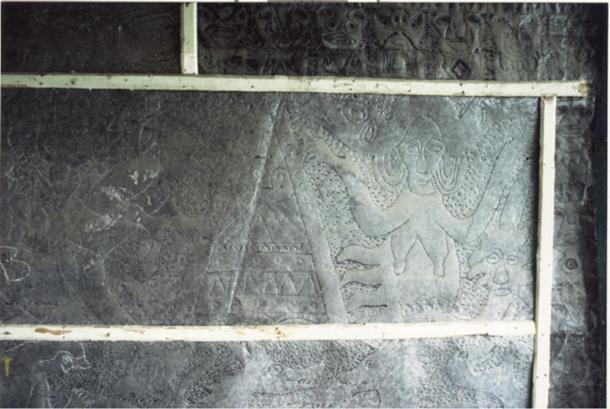 Photo of metal plate of Father Crespi's Collection