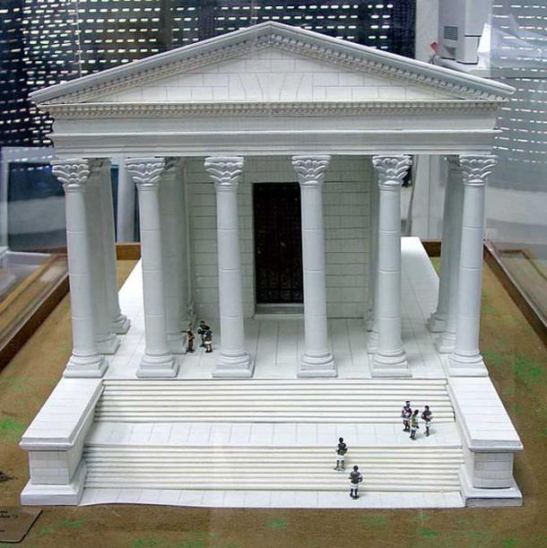 A model of the temple of Hercules.