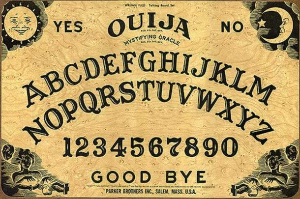 A modern Parker Brothers Ouija Board.