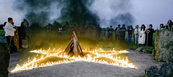 A modern-day pagan celebration