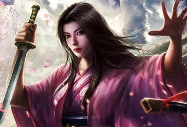 A modern representation of Mochizuki Chiyome, a woman who created a secret kunoichi cohort in feudal Japan in the 16th century.