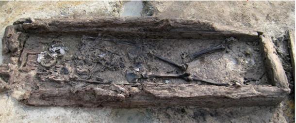 The skeleton inside the mokgwakmyo.