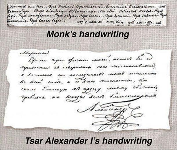 Two years ago, Svetlana Semyonova, president of Russian Graphological Society, concluded from handwriting samples that 'it was one and the same man'. Pictures: Vesti Tomsk