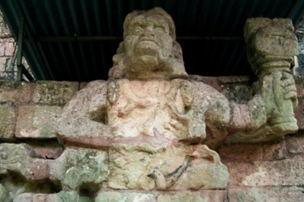 Possible howler monkey god at the World Heritage Site of Copan, Honduras