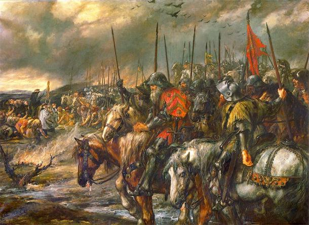 The morning of the Battle of Agincourt. (Hohum / Public Domain)