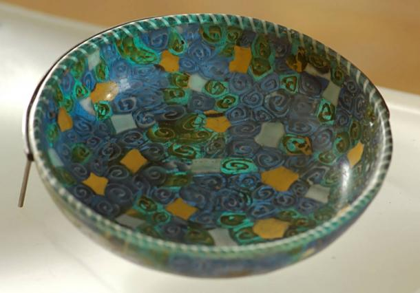 This mosaic glass dish in the Louvre is similar, though a different color, from the one found recently near London.