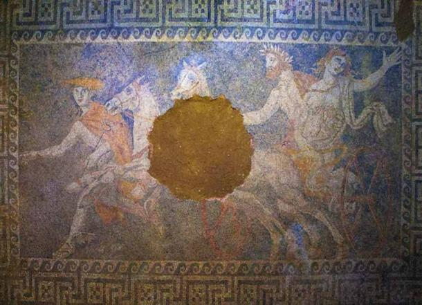 Amphipolis mosaic depicting the abduction of Persefonis