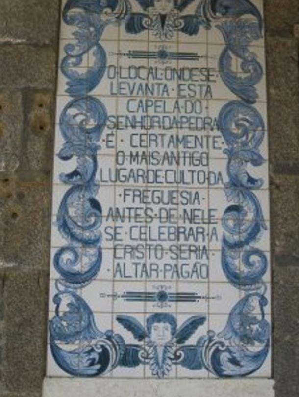 One of the two mosaics on the side of the chapel, which speaks of its ancient origins.