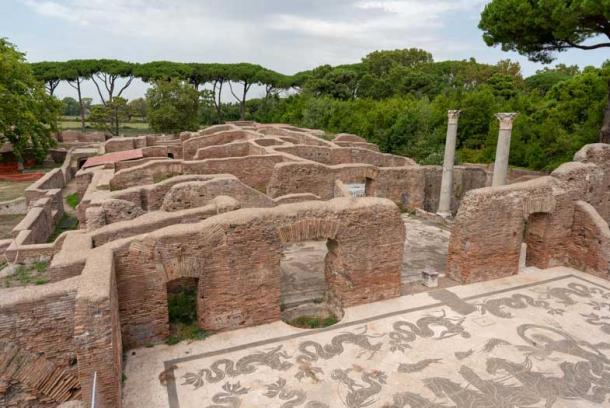 Mosaics covered the floors of the buildings at Ostia Antica. (Ioannis Syrigos)
