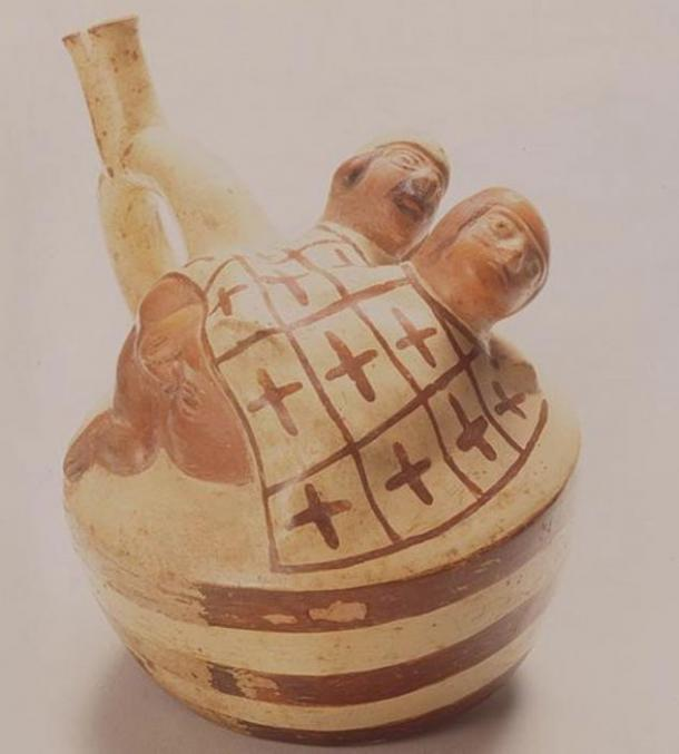 The most frequent sexual act depicted in Moche pottery is anal sex