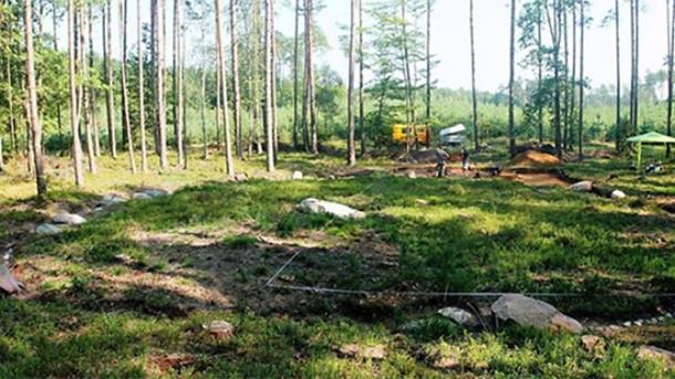 The mound under investigation near Czaplinek.