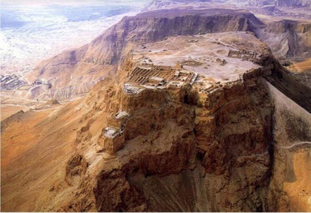 The mountaintop fortress of Masada where the ancient seeds of the Judean date palm were recovered. Masada.
