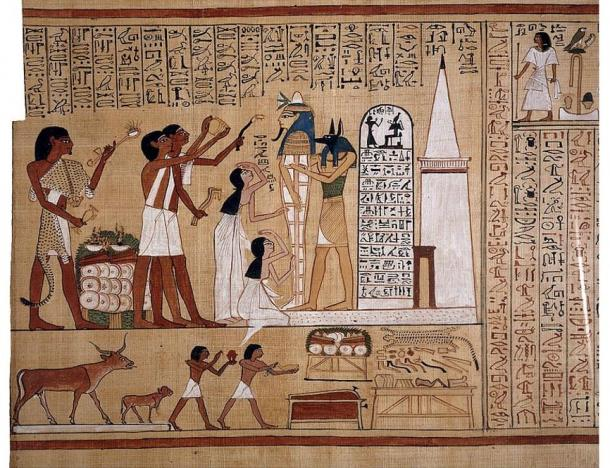 Opening of the mouth ritual, Book of the Dead of Hunefer (1300 BC), The British Museum