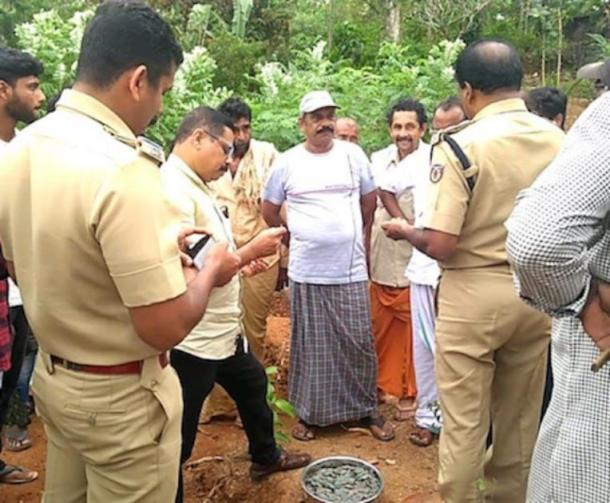 Upon his discovery of the buried treasure, Mr. Pilla immediately alerted the relevant authorities. (Manorama Online)
