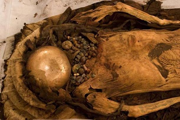 The mummified remains of the Lady of Cao