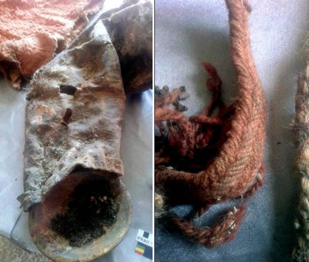 In the mummy's grave archeologists found - alongside the human remains - a saddle, bridle, clay vase, wooden bowl, trough, iron kettle, the remains of entire horse, and four different 'Dool' (Mongolian clothes).
