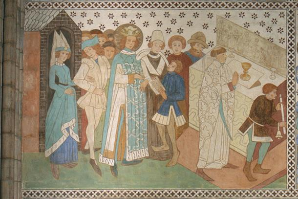 A mural in Uppsala Cathedral.