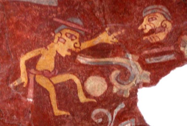 A mural in Teotihuacan, Mexico depicting a person emitting a speech scroll from his mouth, symbolizing verbal language. (Madman2001 / CC BY-SA 2.0)