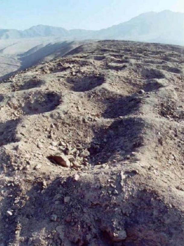 The mysterious holes of Pisco Valley, Peru.